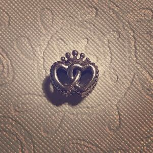 Authentic pandora double heart charm